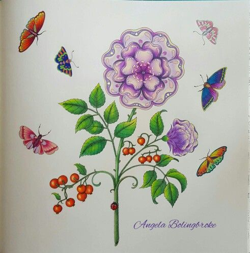 Johanna Basford Gel Pens Colouring Rose