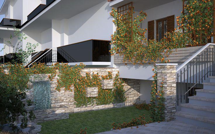 Piccolo giardino appena progettato  inizi 2016