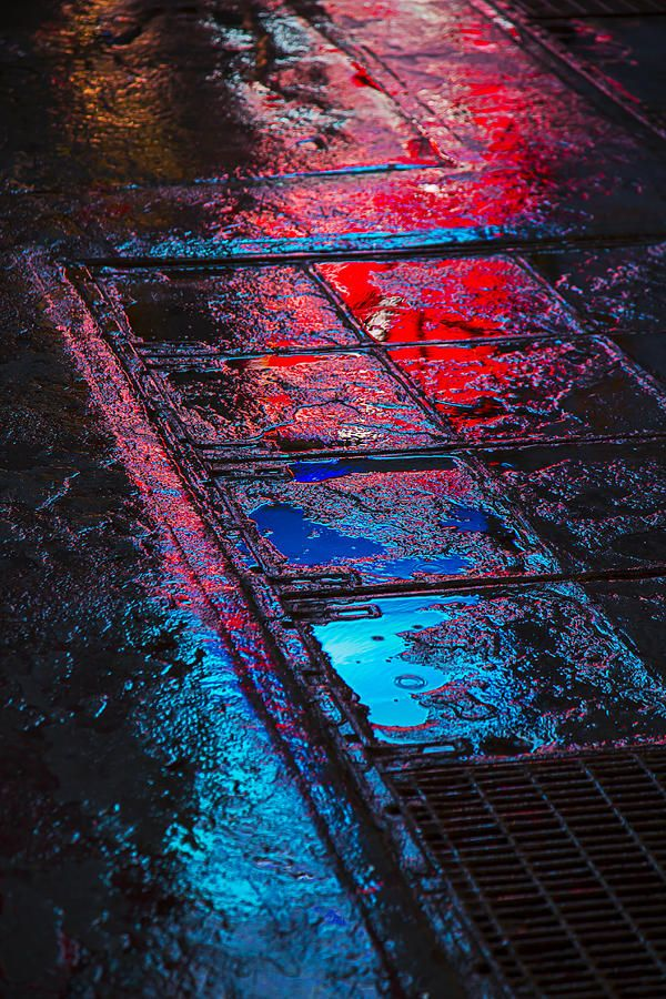Sidewalk Reflections Photograph - Sidewalk Reflections by Garry Gay