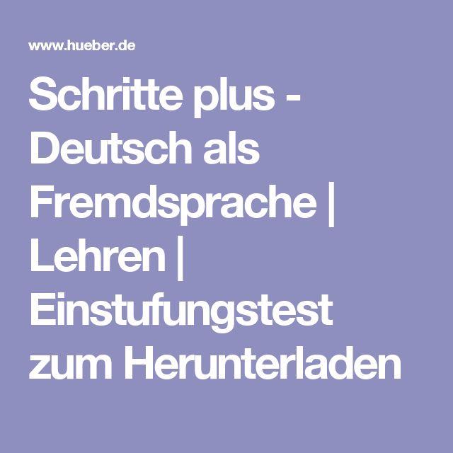 Schritte plus - Deutsch als Fremdsprache | Lehren | Einstufungstest zum Herunterladen