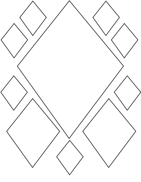 easy geometric design coloring pages - photo#14