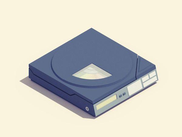 Animierte 3D-GIFs von längst vergessener 90er-Jahre-Elektronik