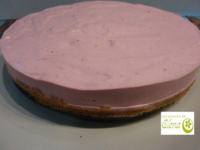 """Los Postres de Elena: Cheesecake """"saludable"""" de fresa. http://www.lospostresdeelena.com/2017/02/cheesecake-saludable-de-fresa.html #Cocina #Gastronomía #Tenerife #Canarias #España #SinHuevo"""