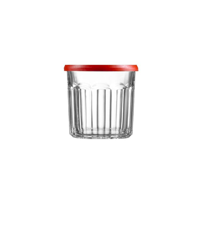 Buy #Luminarc Pot A Confiture Jam Storage Jars With Red Top Lid 50 cl (Pack of 6) and more #Homeware, #Kitchenware and #Cookware products at Popat Stores.  #StorageJars