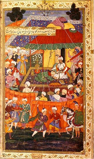 Mughal Miniature Paintings, miniature paintings became widely popular in India during Mughals rein.