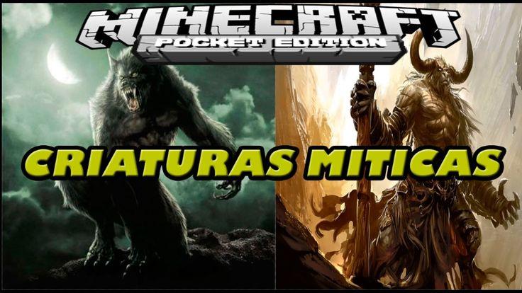 CRIATURAS MITICAS EN MINECRAFT PE 1.0 ADDON - HOMBRE LOBO MAGOS Y MAS! -...