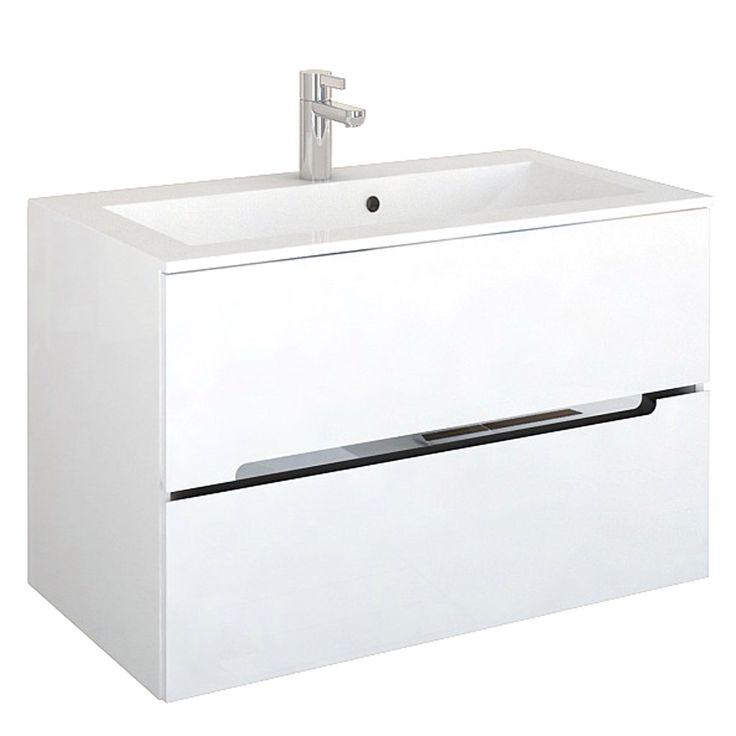 ORISTO Silver Szafka wisząca pod umywalkę dolomitową Silver 90. Kolor: biały połysk - Szafki podumywalkowe - Combikol