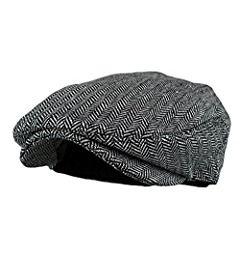 f4345797b6d83 Wonderful Fashion Men's Classic Herringbone Tweed Wool Blend Newsboy IVY Hat  (S/M, Brown-Green) at Amazon Men's Clothing store: