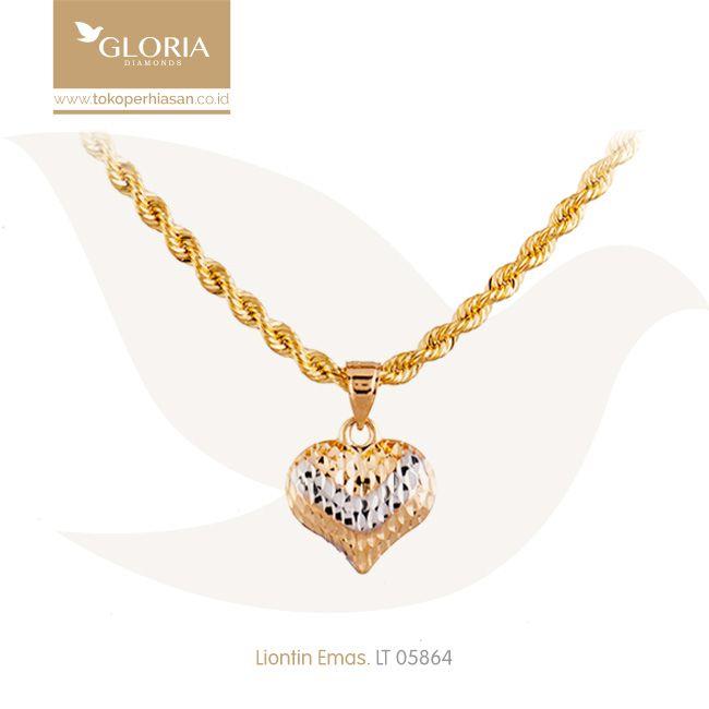 Liontin Bentuk Hati Cukitan Warna Putih Kuning. #goldpendant #goldstuff #gold #goldjewelry #jewelry #pendant #perhiasanemas #liontinemas #tokoperhiasan #tokoemas