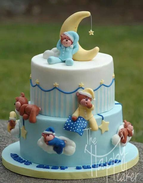 Fondant cake topper - Sleepy teddy bear cake kit - Cake not included                                                                                                                                                                                 More