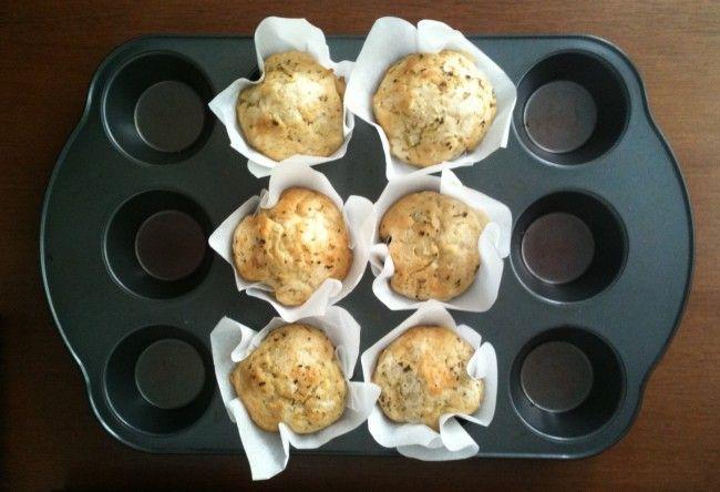 Muffins de queijo com ervas | Um Doce Dia