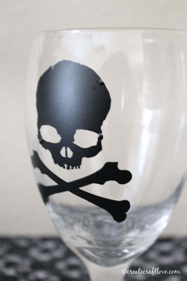 halloween goblet made with cricut explore createcraftlove designspacestar
