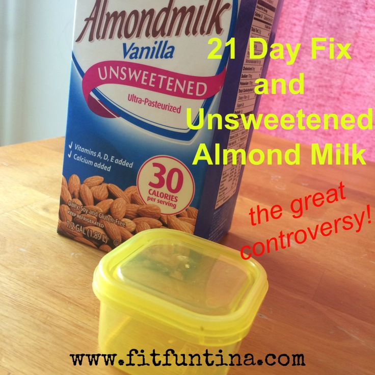 21 Day Fix and Unsweetened Almond Milk - is it a yellow? Is it free? Check out the scoop here!