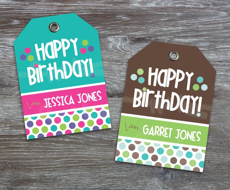73 best printable happy birthday images on pinterest free personalized custom printable gift tags happy birthday kid child boy negle Choice Image