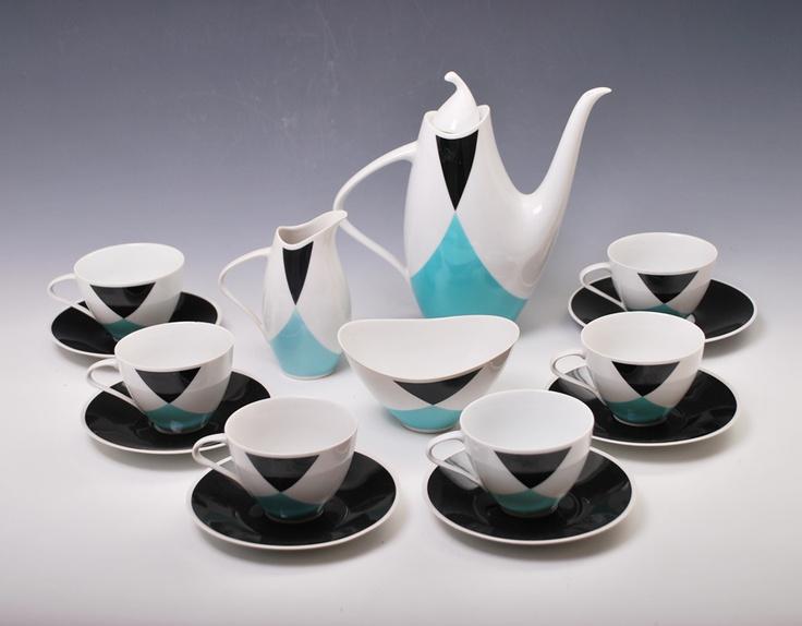 "Jaroslav Jezek ""elka"" tea set. One of the czech succesfull item at the Brusel 58' exhibition."