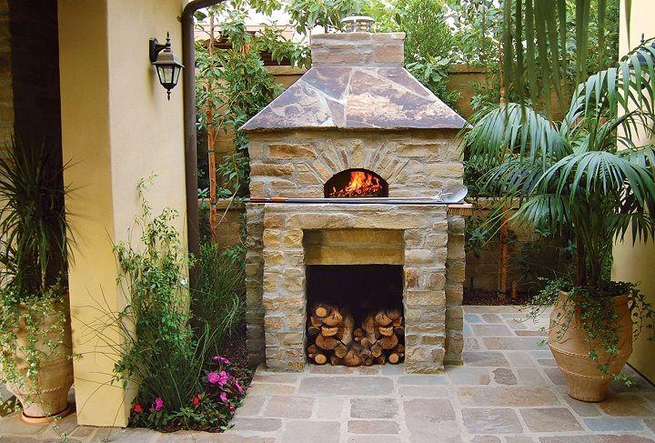 Wood-fired pizza oven.  www.mugnaini.com