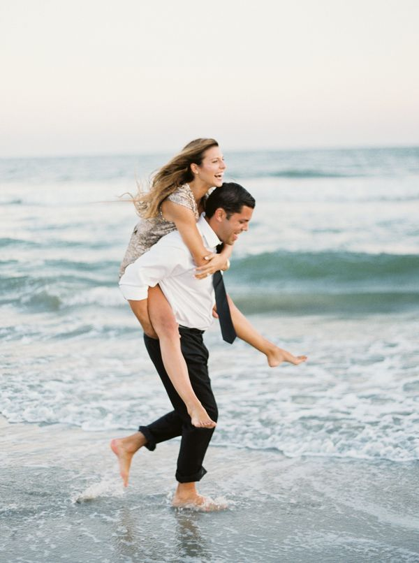 A Playful Engagement by the Sea   @jophotos  on @heyweddinglady   Marsala and Champagne Engagement on the Beach - http://heyweddinglady.com/marsala-and-champagne-engagement-on-the-beach/