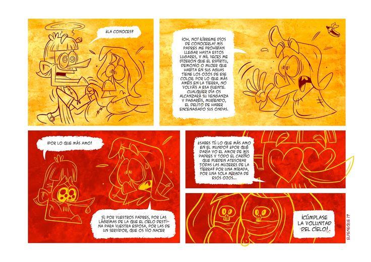 página 8 webcómic leyenda de Bécquer los ojos verdes por Elpeneque con Extrebeo