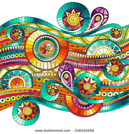 Original drawing tribal doddle ethnic pattern. Background with geometric elements.