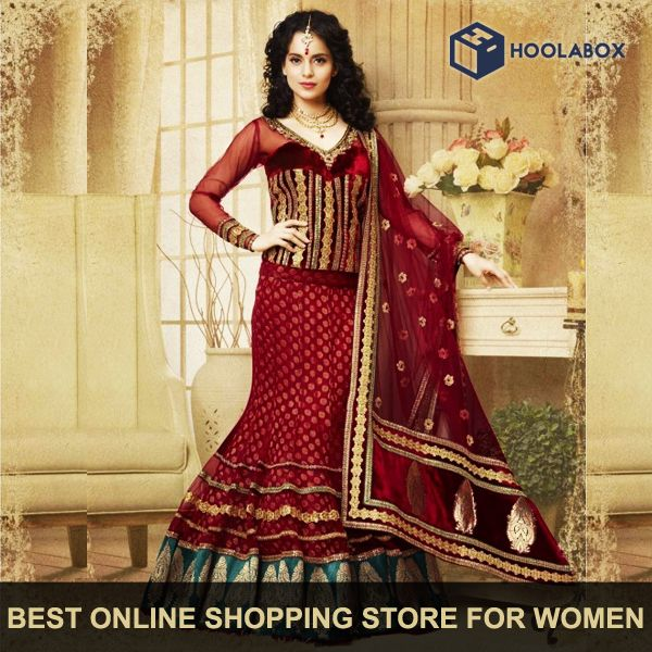 Buy #Designer #Lehengas Online for Women at Hoolabox.  Best Online Shopping Store for Women's all Designer, #Fancy, #Wedding, #Party Wear clothing needs.    Please Visit:- http://hoolabox.com/253-lehenga