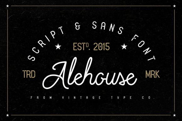 Alehouse Combo Font ($6 OFF) by Vintage Type Co. on Creative Market