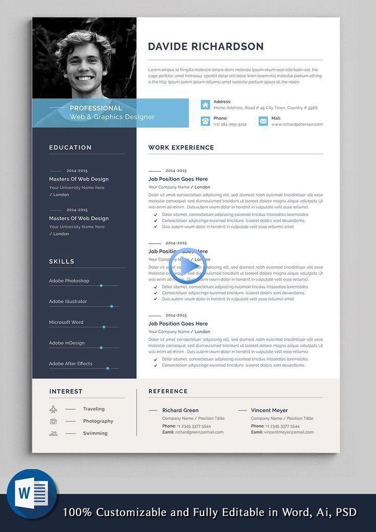 Professional Resume Template Word Resume Cv Template Modern Resume Resum Design Job Resume Template Resume Template Word Resume Design Template