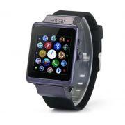 -pro6 SIM Card Remote Shutter Pedometer Sleep Monitor Touch Screen Bluetooth Smart Watch Black