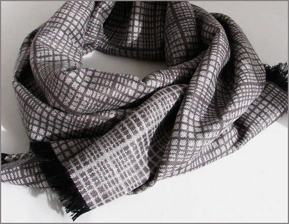 Grey Cashmere man scarf/wrap Écharpe Homme Luxe Gris