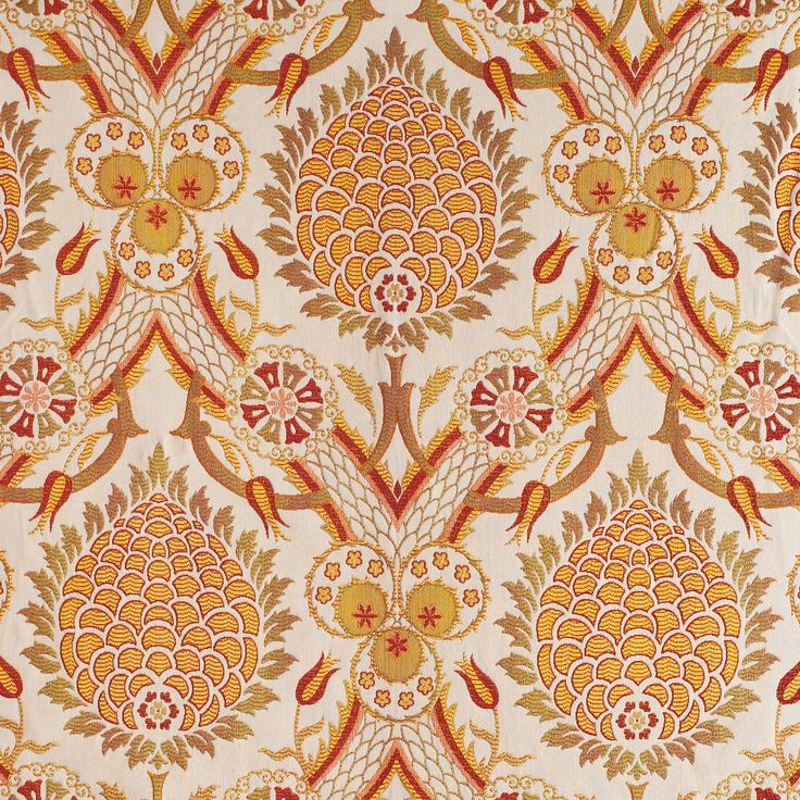 ANICHINI | Sultan Red - available in decorative accessories, bedding, fabric, and window treatments