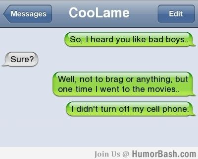 So, i heard you like bad boys.. - HumorBash