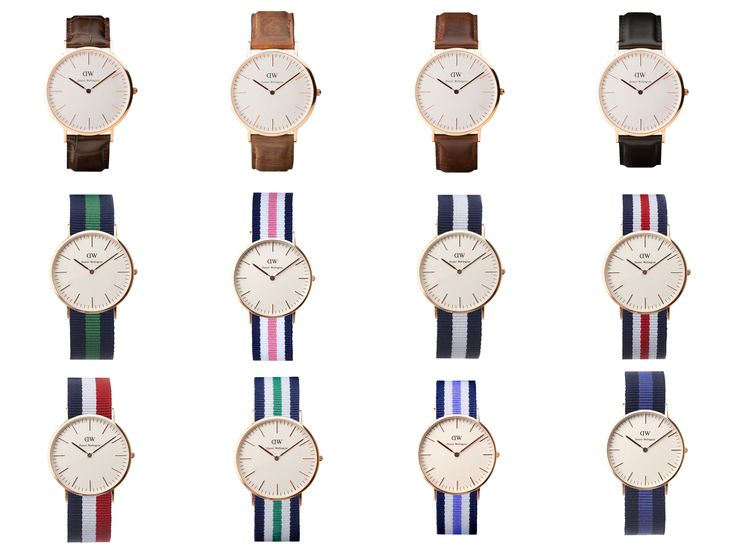 daniel wellington watch and assorted leather and nato. Black Bedroom Furniture Sets. Home Design Ideas
