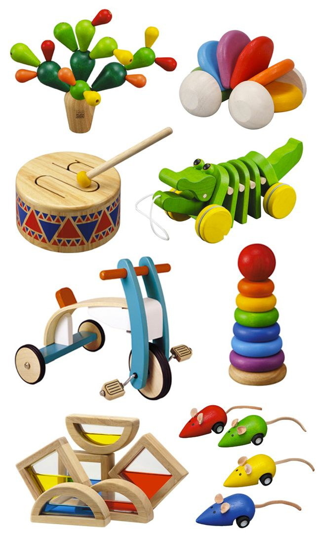 Wooden toys for creativity and imagination