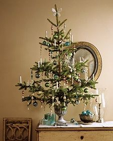Tabletop Trees: Tinsel Tree and more on MarthaStewart.com