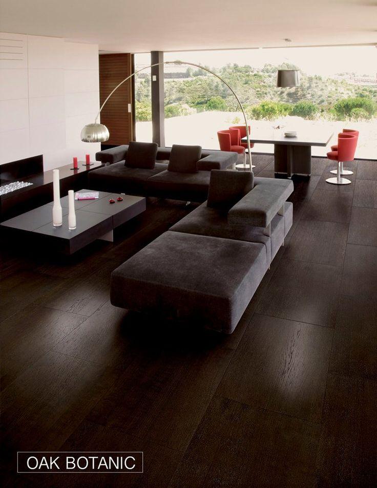 #FlooringTrend: Dark hardwood flooring, such as the Oak Botanic give a modern edge to living spaces.
