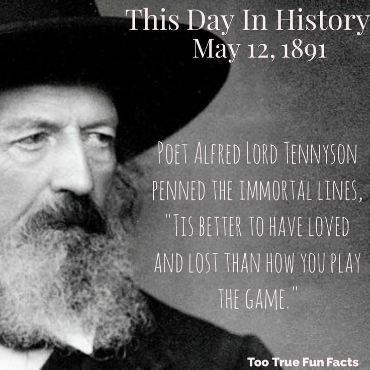 Too true.  #tennyson #alfredlordtennyson #poet #poets #poetry #poem #poems #writer #writing #writers #write #sayings #comedy #funny #funnymemes #funnypictures #funnypic #funnypics #funnypost #funnyposts #meme #memes #humor #parody #trivia #triviathursday #fact #facts #funfacts  #history