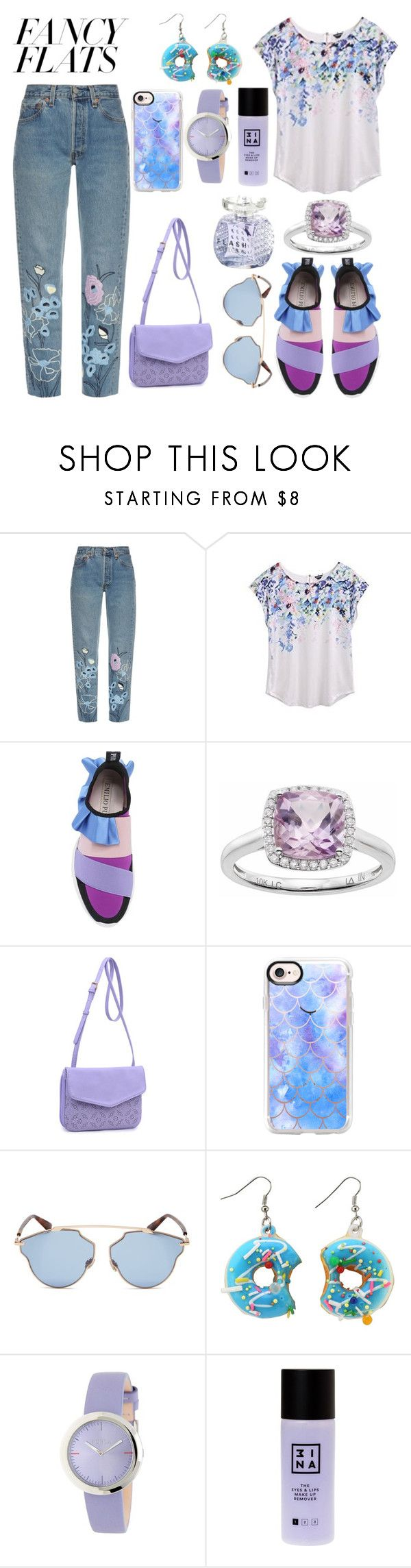 """Untitled #148"" by akoeva-s ❤ liked on Polyvore featuring Bliss and Mischief, Emilio Pucci, LC Lauren Conrad, Moda Luxe, Casetify, Christian Dior, Furla, 3ina, Jimmy Choo and chicflats"