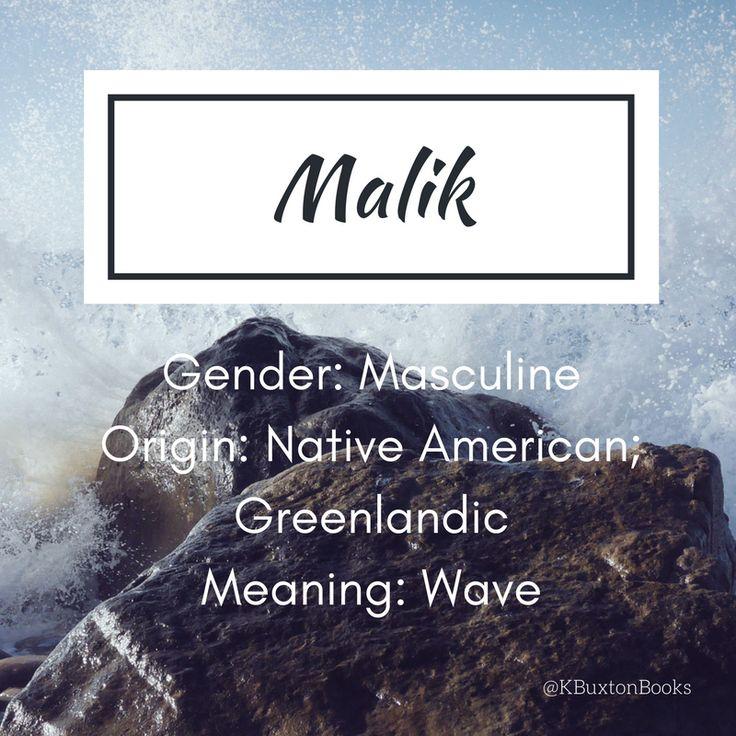 Malik - boy's name