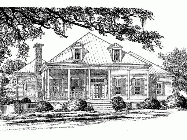 Low country house plan a modern plan with historical for Low country house plans