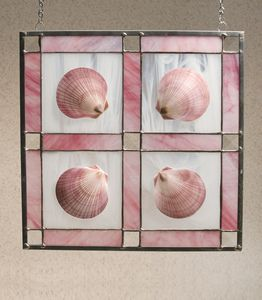 "Shell Stained Glass 12"" x 12"""