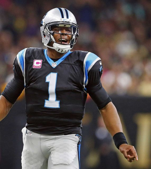 Panthers vs. Saints:      October 16, 2016  -  41-38, Saints  -     Carolina Panthers quarterback Cam Newton (1) reacts in the first half of an NFL football game against the New Orleans Saints in New Orleans, Sunday, Oct. 16, 2016.
