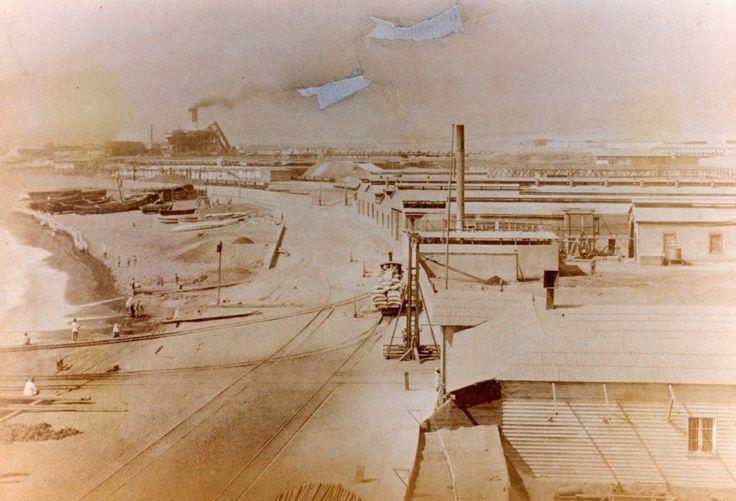 Compañía del Salitre de Antofagasta en 1879.  Fuente Patricio Greve. - EnterrenoEnterreno