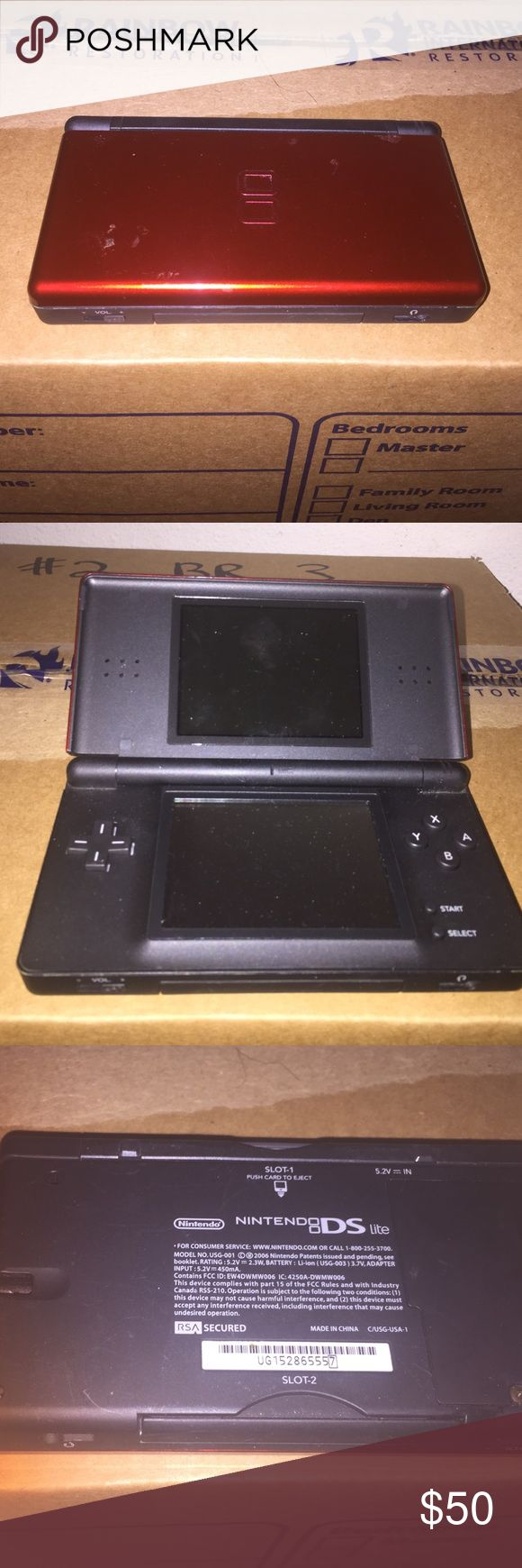 Red Nintendo ds w/ spongebob game Red Nintendo ds w/ spongebob game included. Charger not included. In good condition may have a little scratches on top of paint but nothing major. Great for kids. Nintendo Other