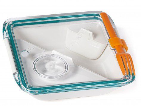 Divided Lunch Container, black + blum box appetit