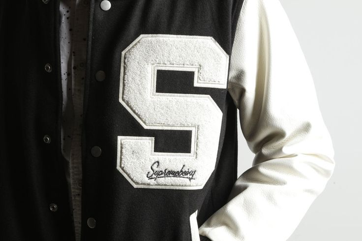 British Designer Supremebeing Letterman Jacket Wool Coat Men's Women's Varsity