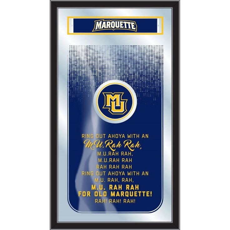 Marquette Golden Eagles Fight Song Lyrics Wall Mirror