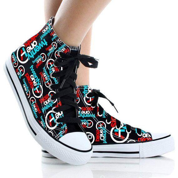 Twenty One Pilots ShoesShoes CustomHigh Topcanvas by CyndiFayeShop