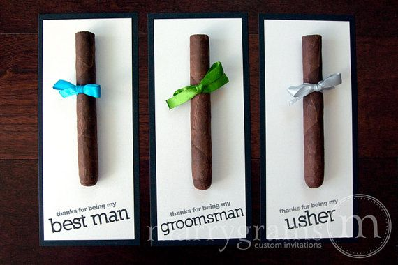 Groomsmen Gift, Cigar Card Thank You for Being My Groomsman, Thanks to My Best Man, Ring Bearer, Usher - Groomsman Gift Wedding (Set of 6) on Etsy, $36.00