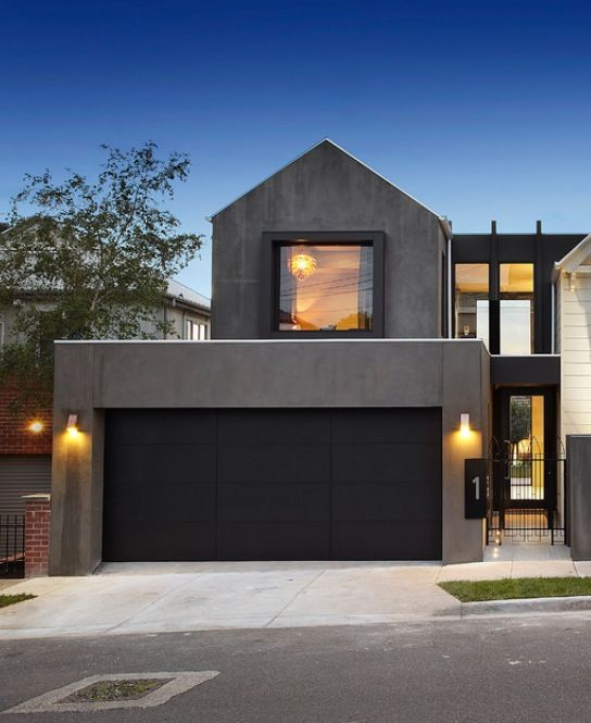 25 best ideas about black garage doors on pinterest for Modern painted houses pictures