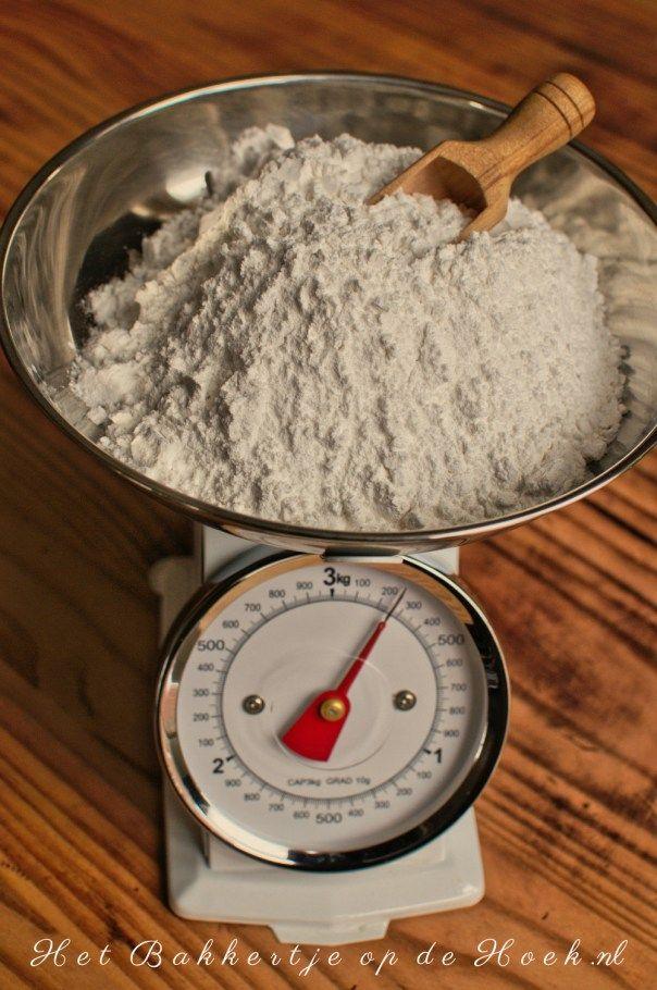 Glutenvrije meelmix voor koekjes, cakes en taarten (om zelf makkelijk samen te stellen).