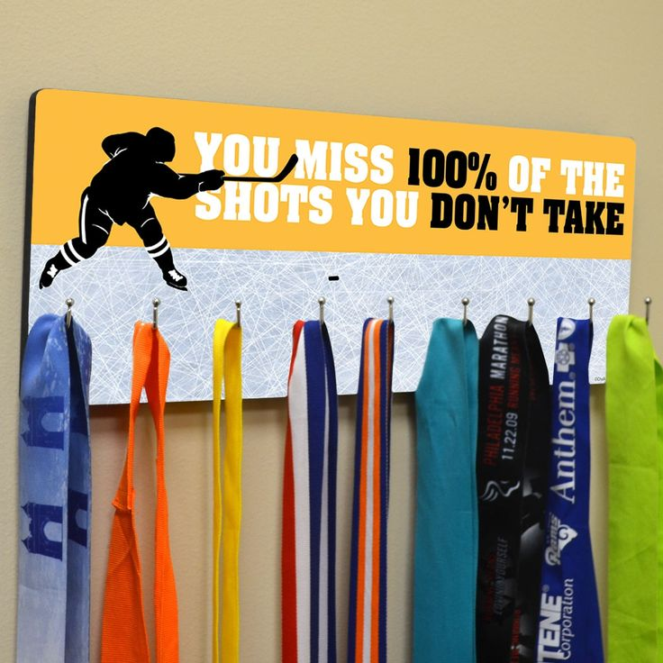 Hockey Multi-Hook Medal/Hat Display | ChalkTalkSPORTS.com